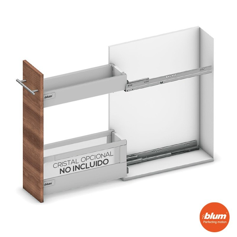 M dulo extraible almacenaje tandembox para mueble de for Modulos muebles de cocina