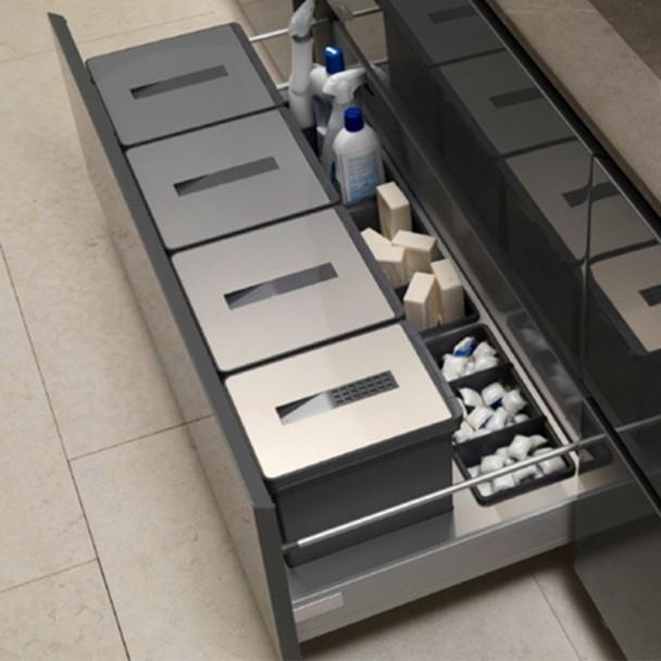 Cubos reciclaje basura acero inoxidable para caj n cocina for Accesorios para cocina en acero inoxidable