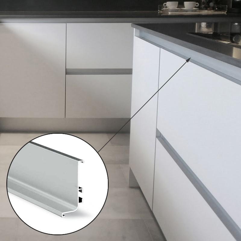 Perfil Sistema Gola Horizontal Superior Aluminio 8006 ...