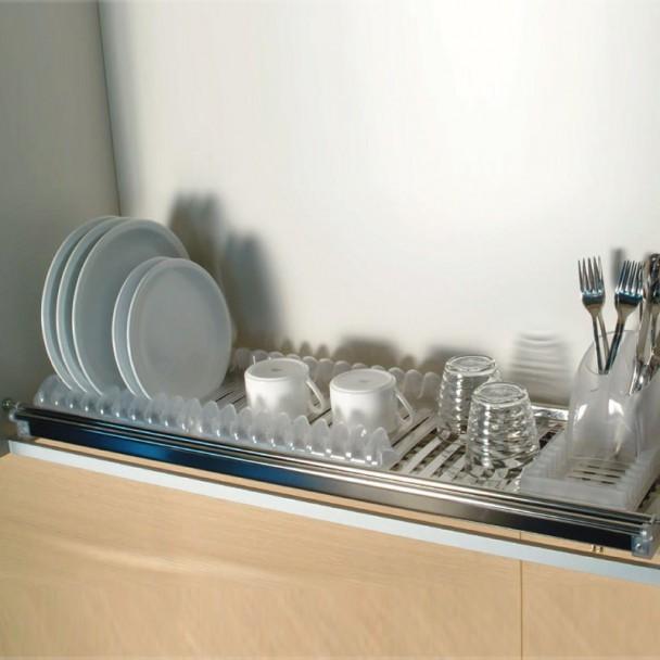 Escurreplatos modular acero inoxidables con bandeja - Escurreplatos para muebles de cocina ...