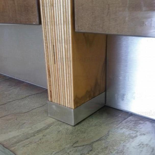 Perfil protector costados mueble cocina for Muebles cocina acero inoxidable