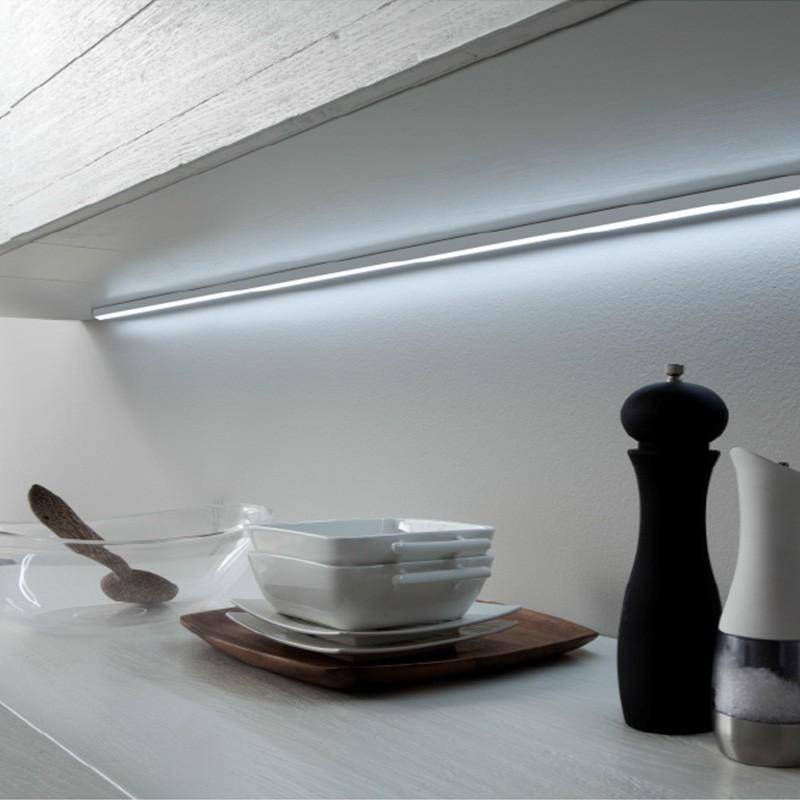 L mpara led lugano con perfil aluminio para cocina - Led para cocina ...