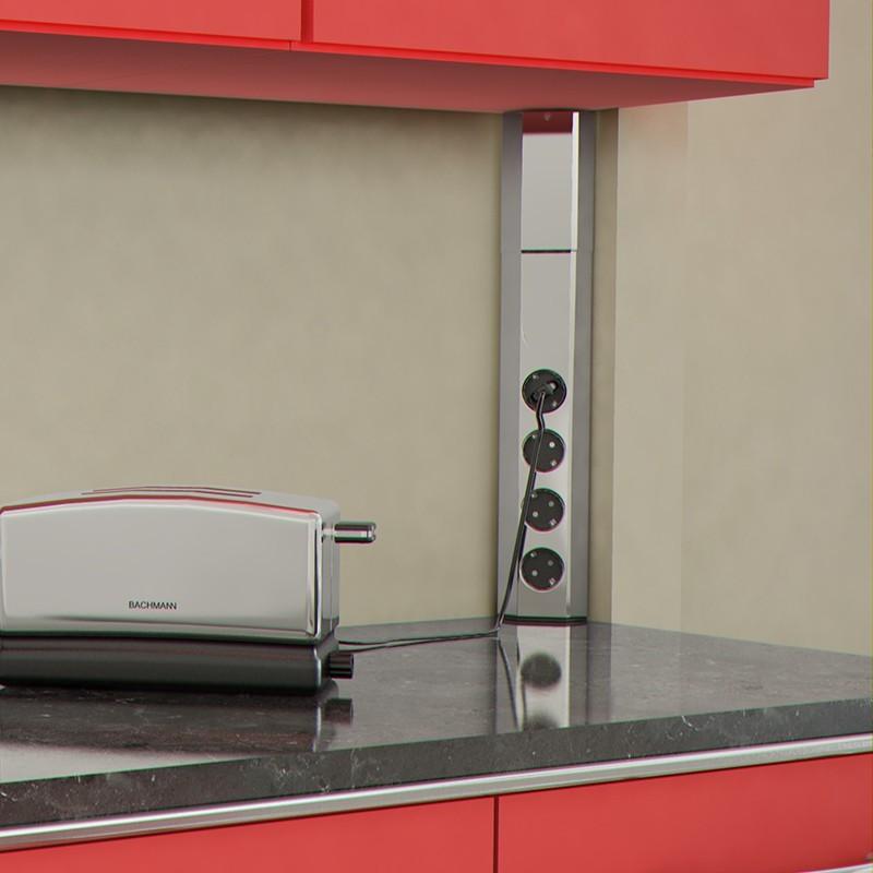 Regleta enchufes angular universal cocina casia for Regletas de enchufes