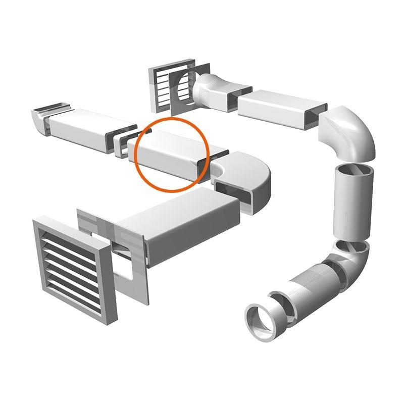 Tubo rectangular para salida de humos de cocina comprar - Campana extractora sin tubo ...