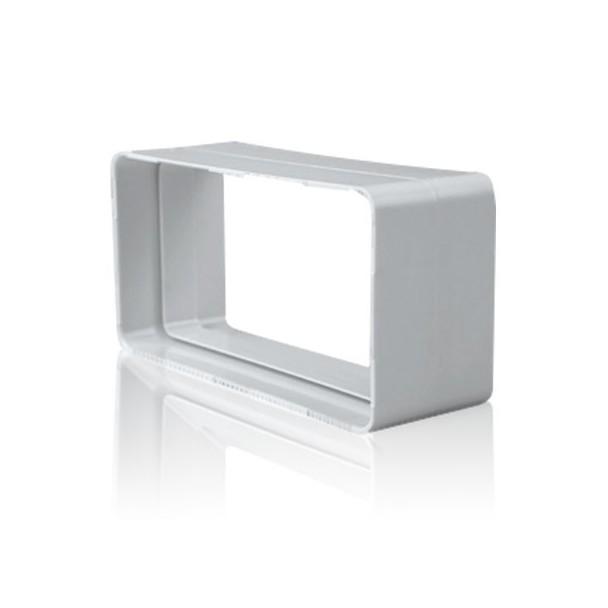 Empalme rectangular para tubo de salida de humos de cocina for Extraccion humos cocina
