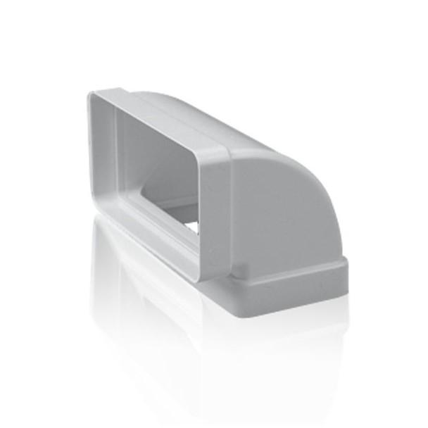 Codo vertical 90 rectangular para tubo de salida de humos - Tubos para salida humos cocina ...