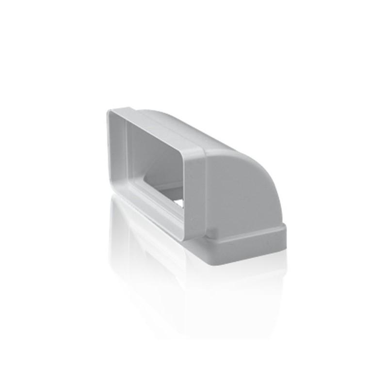 Codo vertical 90 rectangular para tubo de salida de humos for Tubo campana extractora rectangular
