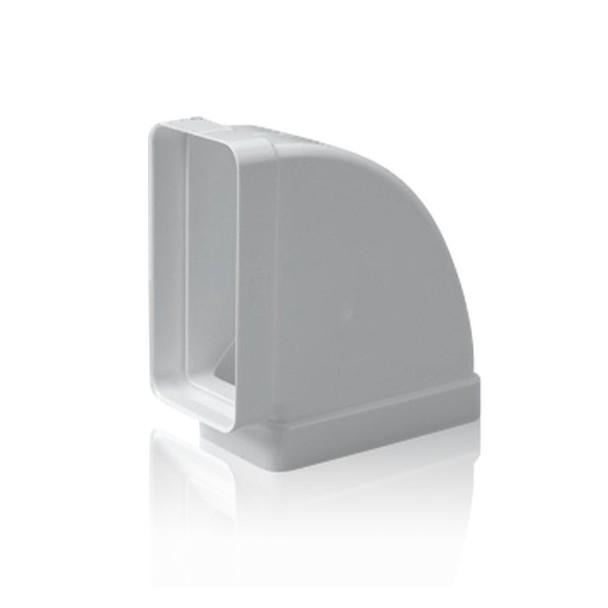 Codo horizontal 90 rectangular para tubo de salida de humos for Tubo campana extractora rectangular