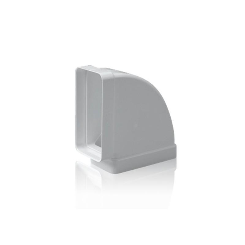 Codo horizontal 90 rectangular para tubo de salida de humos - Tubos para salida humos cocina ...