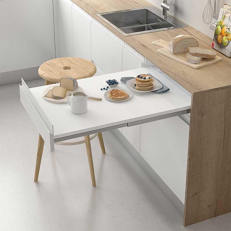 Herraje extraible mesa cocina a l nea compact - Mesa extraible cocina ...