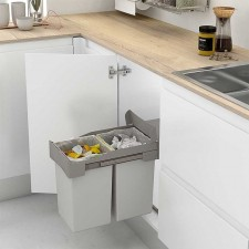 Cubos de basura y reciclaje con guias deslizantes para - Cubos reciclaje cocina ...