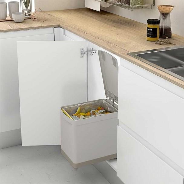 Cubo basura rectangular 16 l para mueble de cocina for Cubo basura cocina