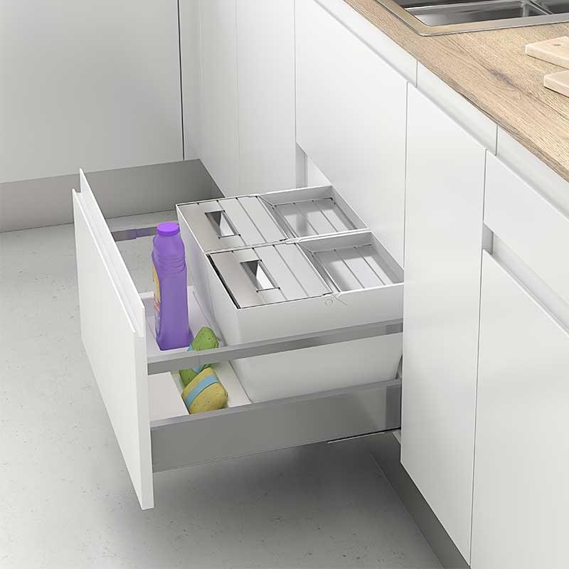Cubos reciclaje basura para caj n de cocina mod k for Cubo basura leroy merlin