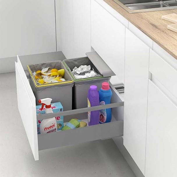 Hermoso cubos reciclaje cocina fotos cubo euro cargo s 45 for Cubo basura leroy merlin