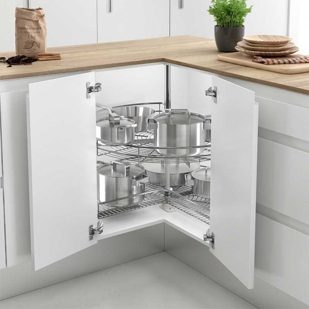 Bandeja giratoria 270 tipo a mueble rinc n cocina l nea for Mueble alto de cocina esquinero