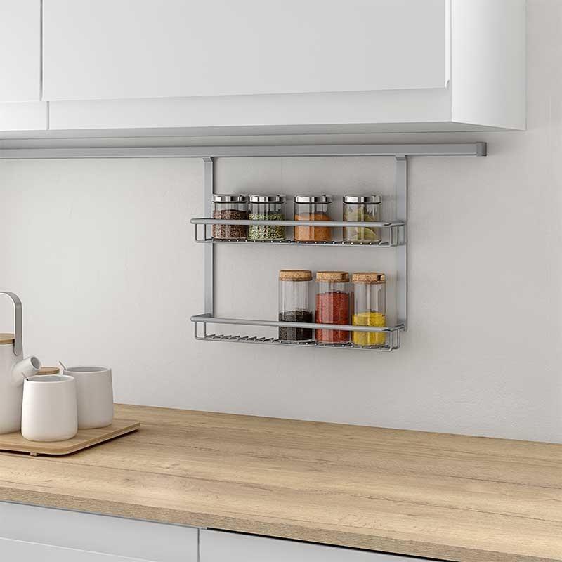 Soporte especiero para cocina for Accesorios para cocina en acero inoxidable