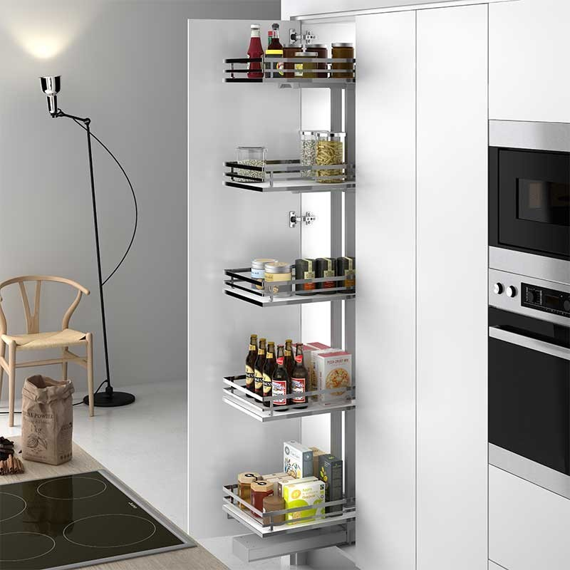 Kit bastidor despensero extraible mueble cocina tit n flat for Muebles de cocina en kit online