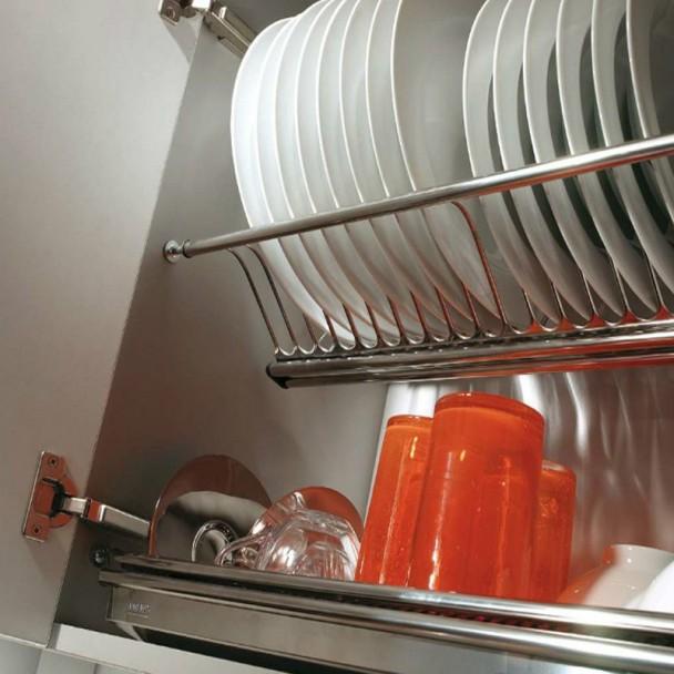 Platera de cocina escurreplatos en acero inoxidable for Mueble platero
