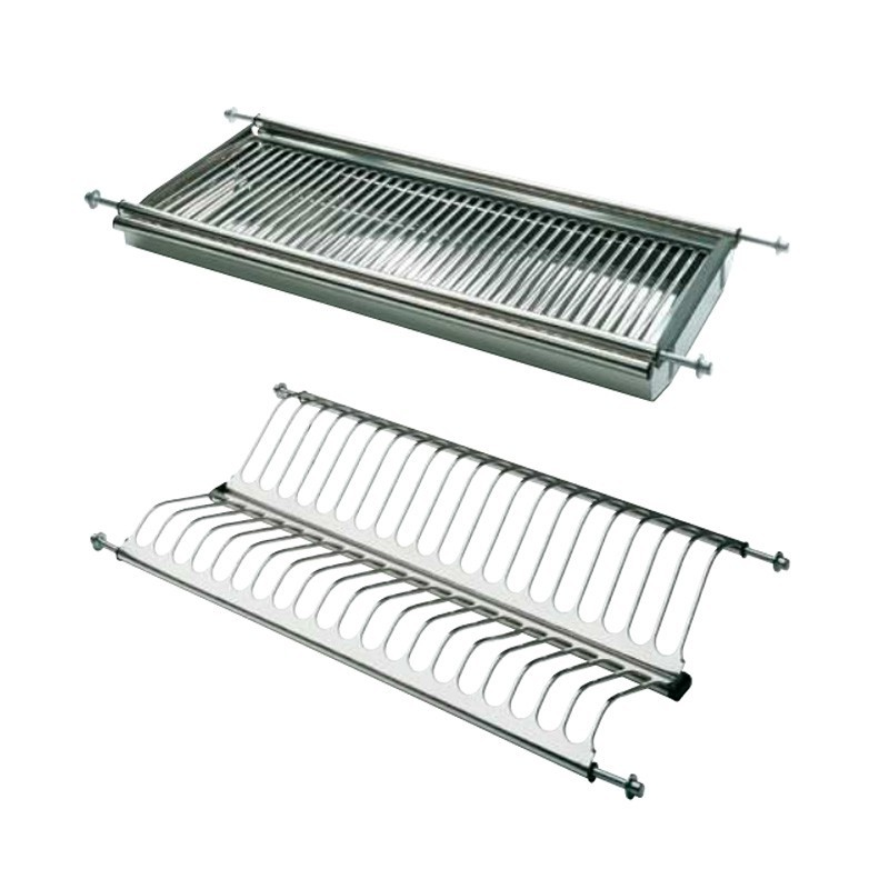 Platera de cocina escurreplatos en acero inoxidable - Escurreplatos para muebles de cocina ...