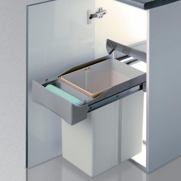 Cubo basura rectangular 21 l for Cubos de basura cocina