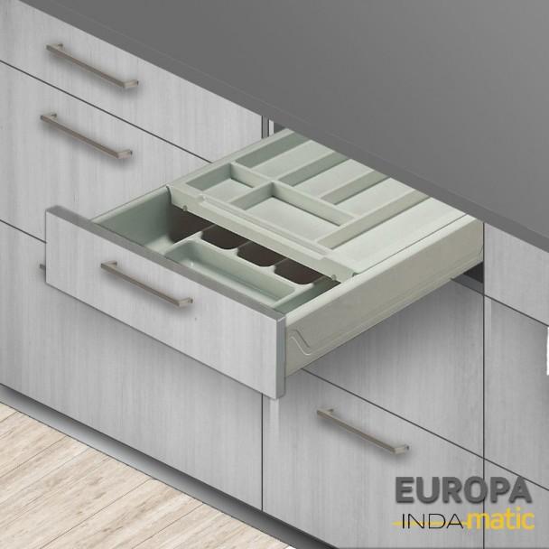 Cajón de Cocina Doble Cubertero Europa PVC