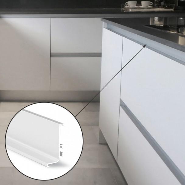 Perfil Sistema Gola Horizontal Superior Blanco 8006
