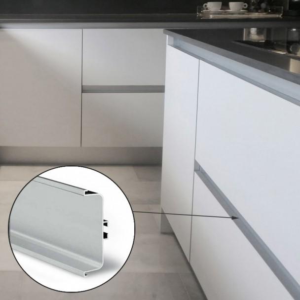 Perfil Sistema Gola Horizontal Intermedio Aluminio 8007