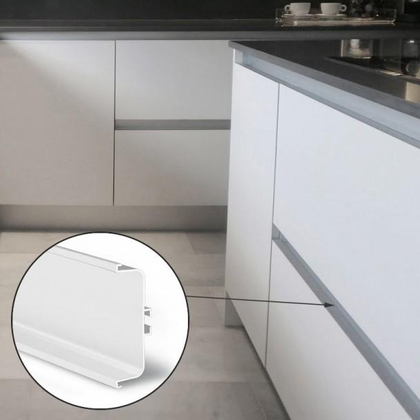 Perfil Sistema Gola Horizontal Intermedio Blanco 8007