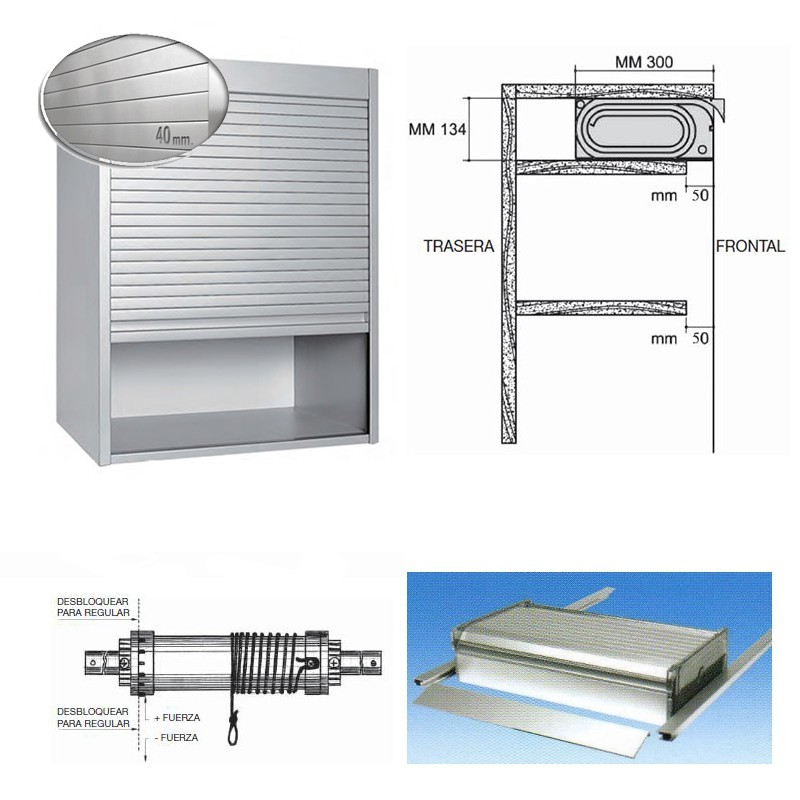 Kit Persiana Aluminio Inox para Muebles de Cocina ...