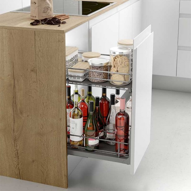 Módulo Botellero Extraible Línea Clásica para Mueble de Cocina