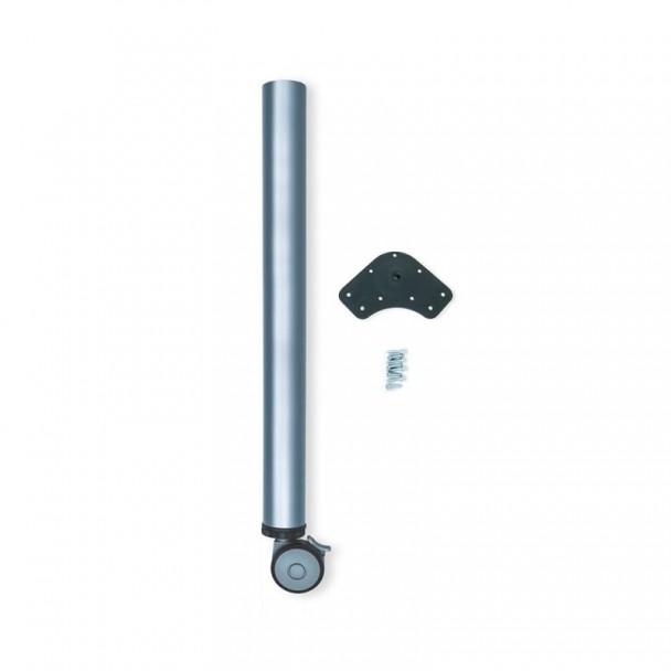 Pata Regulable con Rueda y Freno D. 60 mm