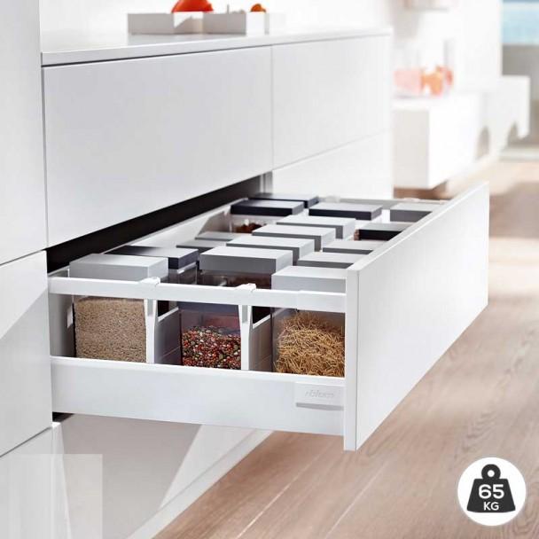 Cacerolero Blanco 65 kg Blum Tandembox Antaro D para cocina