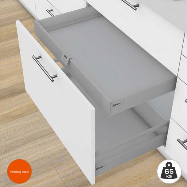 Cajón Interior Gris 65 kg Tandembox Antaro M para cocina
