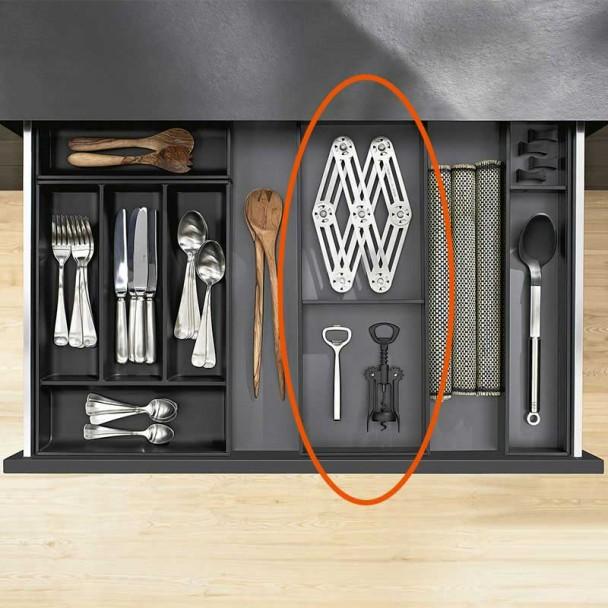 Marco Cubertero AMBIA-LINE de acero para Cajón de Cocina LEGRABOX