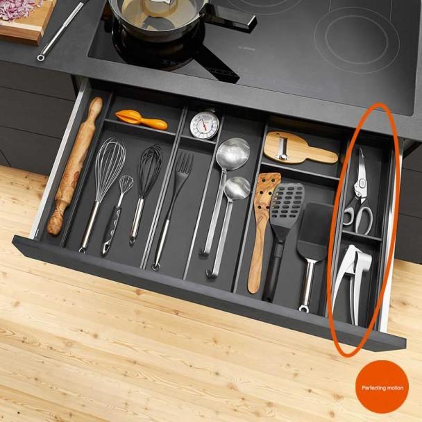 Marco Cubertero Estrecho AMBIA-LINE de acero para Cajón de Cocina LEGRABOX