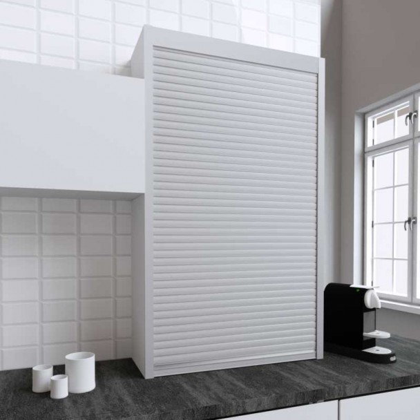 Kit Persiana 90 x 150 cm PVC Inox para Muebles de Cocina