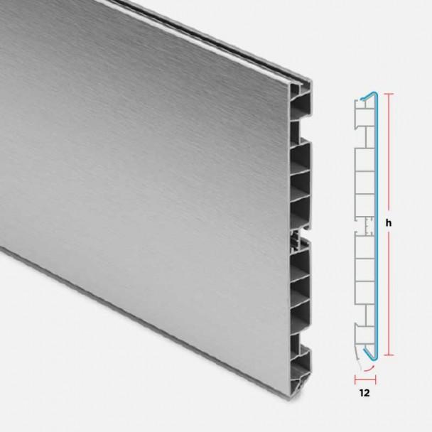 Zócalo de PVC Aluminio Cepillado para Rodapié Cocina