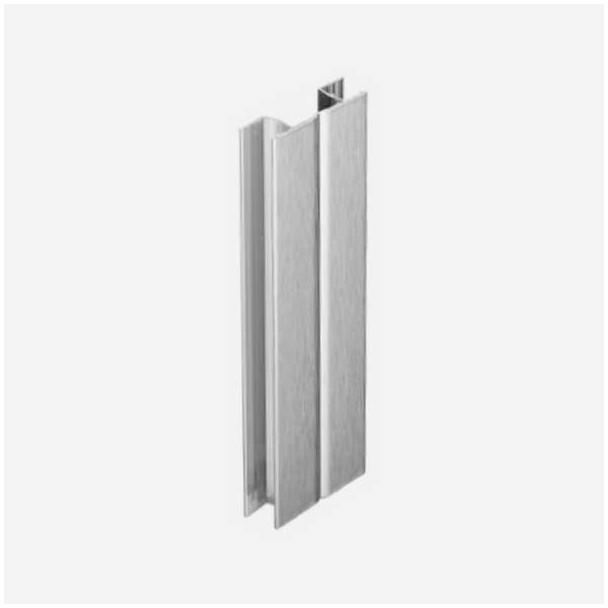 Multiángulo Aluminio Cepillado para Zócalo de PVC Rodapié Cocina