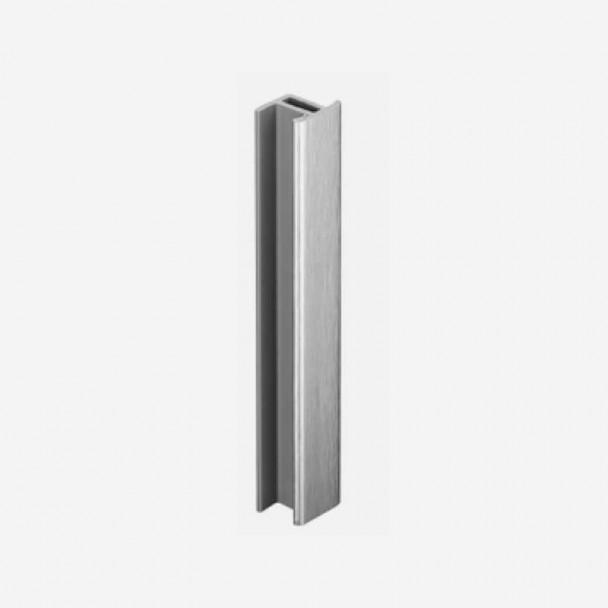 Unión Aluminio Cepillado para Zócalo de PVC Rodapié Cocina