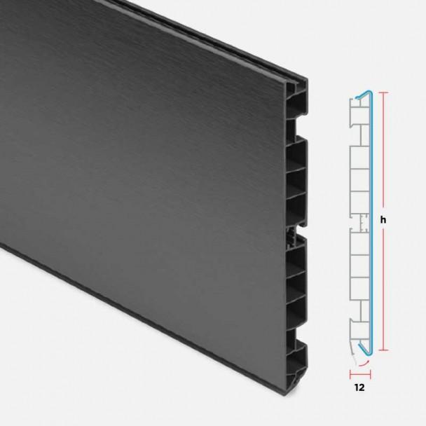 Zócalo de PVC Antracita para Rodapié Cocina