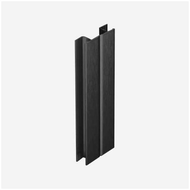 Multiángulo Negro para Zócalo de PVC Rodapié Cocina
