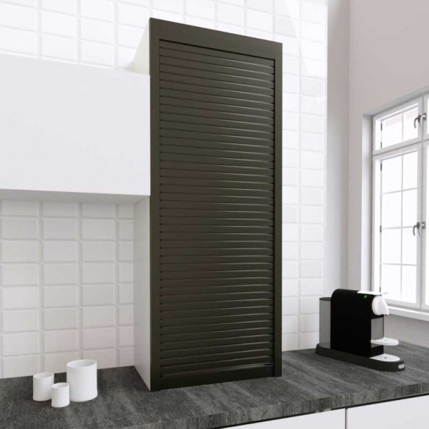 Kit Persiana 60 x 150 cm PVC Titanio para Muebles de Cocina